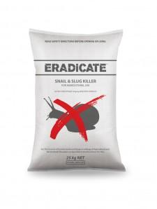 Eradicate 25Kg mock on white bag